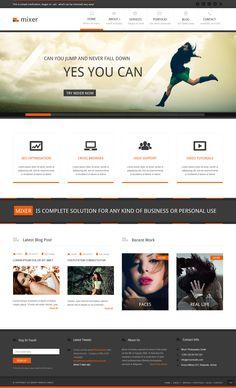 Business Joomla Template   Inspiration   Web   Pinterest   Web ...