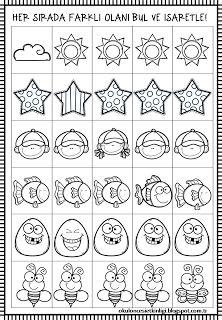 8 En Iyi Okul Oncesi Kavramlar Calisma Sayfalari Preschool