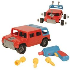$27.99 - The Take-A-Part 4x4 truck will give your child hours of fun. • Take the truck apart and rebuild it over and over again.•  All pieces and tools needed to build the truck are included with the kit. • Instructions are included to help you get started.• This is a perfect gift for the little mechanic in your family. See MORE Trucks here!