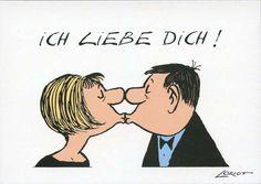 Loriot Postkarte - Ich Liebe Dich! postkarten liebe