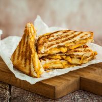 Grown up bacon grilled cheese sandwich