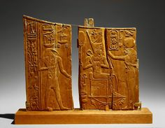 Arm panel from a ceremonial chair of Thutmose IV - New Kingdom period (Dynasty reign of Thutmose IV) - circa B. - Ancient Egypt (Upper Egypt, Thebes, Valley of Kings, Tomb of Thutmose IV) - wood (ficus sycomorus / sycamore fig) - furniture - relief Ancient Egyptian Artifacts, Museum Studies, Valley Of The Kings, Egypt Art, Museum Of Fine Arts, Metropolitan Museum, Archaeology, Art History, Arm