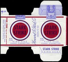 Stark - Stark Strike King Size Candy Cigarettes candy box - 1970's by JasonLiebig, via Flickr