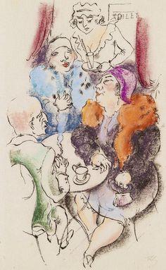 Richard Ziegler (1891-1992) - Kaffeehausszene, 1920