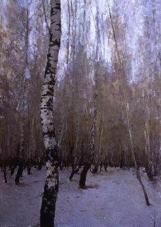 peter bezrukov | Winter birches by Peter Bezrukov - Wallery