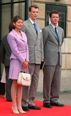 Prince Joachim Princess Alexandra Crown Prince Frederik Of Denmark At The Royal Theatre