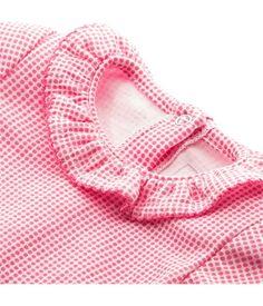 Baby-Body für Mädchen, Kurzarm, gedoppelter, bedruckter Jersey