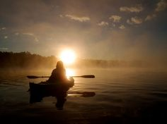 my favorite time of day in a kayak!