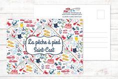 Carte postale La pêche à pied à Saint-Cast par SoChicSoGraphic