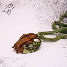 polymer jewelry - Martina Buriánová my technique - Ragstone and Wood