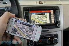 Now this is smart.  Mirrors ur phone on car system.