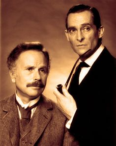 Edward Hardwicke as Watson and Jeremy Brett as Holmes