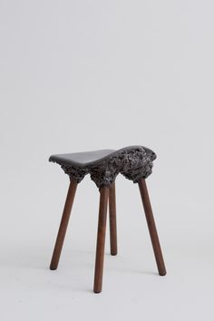Well Proven Chair Stromboli collection by James Shaw and Marjan van Aubel foamed wood expanded wood volcanic rock
