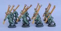 Rarität Gebirgsjäger Soldaten mit Schi Maultiere Elastolin Lineol | eBay