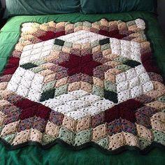 Free Pattern; Red Heart; crochet; Prairie Star Blanket