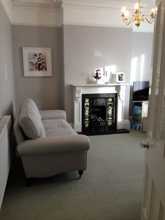 Finally my new sitting room coming together :) Loving my new Laura Ashley (Kingston) sofas in Edwin Grey.  Walls are Little Greene French Grey.  Now need to add some colour :)