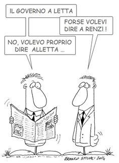 ITALIAN COMICS - Matteo Renzi alla guida del Paese: tanto tuonò che alla fine piovve.
