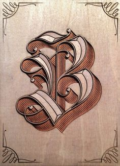 45 Beautiful Examples of Blackletter and Gothic Calligraphy - B is for Blackletter by Eltipo Graphic - Gothic Lettering, Chicano Lettering, Graffiti Lettering Fonts, Creative Lettering, Tattoo Fonts Alphabet, Hand Lettering Alphabet, Letter B Tattoo, Lettrage Chicano, Tattoo Lettering Styles