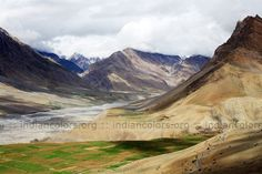 SPITI VALLEY – Views of beautiful mountains and blue sky From Dankar Monestry in Himachal Pradesh in India | indiancolors