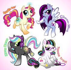 Choose a pony! ~Adopted: Neon Beat, Sparkle Pop, Techno Treat and Glimmer Wing adopted~ ALL ADOPTED