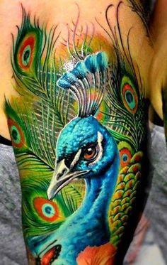 15 3D Peacock Tattoo