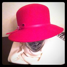 🎉HP 2X🎉 Nine West Red Wool Hat ⬇️REDUCED⬇️ 🎉HP 2X🎉 🎉Winter Obsessions Party HP 1/24/16🎉 🎉Cozy Chic Party HP 1/11/16🎉 Authentic Nine West Red Wool Hat. Thin Faux Leather Band with a stylish Silver Buckle on the Right Side. 100% Wool exclusive of decoration. A Hat Pin will be included. Brand New! Excellent Condition. No Trades. The Scarf is listed separately in my closet. Nine West Accessories Hats