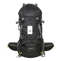 Waterproof Hiking Backpack, 45L + 5L 50L 65L + 5L Nylon Large Capacity to meet Sport Camping Travel Trekking Rucksacks Pack Mountaineering Climbing Knapsack (65L+5L 01 Black, 65L + 5L). 1. The hiking backpack is made of durable nylon, sturdy, large capacity, light weight. 2. Main warehouse capacity is 45 L & 65 L and there are different subsidiary warehouse in the capacity of 5 L, which gives you a great deal of storage space. 3. The reinforced fabric on the back of the backpack is used…