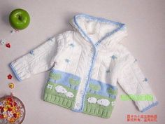 Hand knitted baby cardigan with decoration.Knitted baby by AnaSwet Baby Boy Cardigan, Baby Cardigan Knitting Pattern, Knitted Baby Cardigan, Knit Baby Sweaters, Baby Knitting Patterns, Baby Patterns, Knitting Ideas, Crochet For Boys, Knitting For Kids
