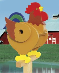 19-W3518 - Rooster Birdhouse Woodworking Plan