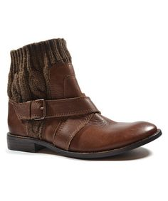 Take a look at this Walnut Knit Collar Toronto Ankle Boot by Splendid on #zulily today!