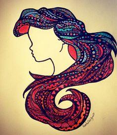 Ariel: Zentangle by rachkilgore14 on DeviantArt