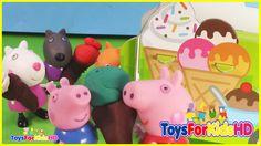 La Heladería de Peppa Pig y sus amigos - Peppa Pig en español  ToysForKidsHD