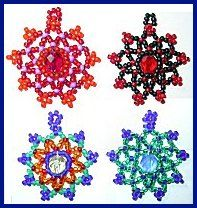 Mandala / Star Earring Pattern at Sova-Enterprises.com Lots of free beading patterns and tutorials on this site!