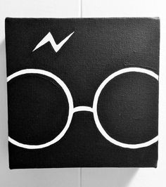 Set of 4 minimalist Harry Potter hand painted acrylic on 6x6 wrapped canvas. 4 paintings contain the Platform 9 3/4, the Boy who Lived, the
