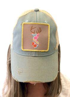 Embroidered Deer Hat (skye blue) – DejaVu