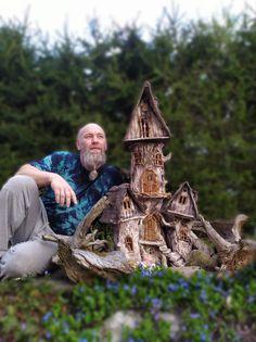 Wood Watch, Bird Feeders, Outdoor Decor, Wooden Clock, Teacup Bird Feeders
