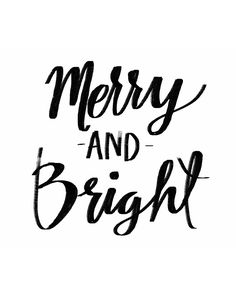 Free Merry and Bright printable.