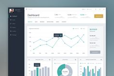 Ad: Dash - Vol 1 Charts by AnghelGabriel on Dash - Vol 1 Charts. UI Kit Vol 1 Charts is the first part of a larger ui kit i intend to release. - It is buit on a 4 and 3 columns grid. Dashboard Ui, Dashboard Design, Financial Dashboard, Sales Dashboard, Gui Interface, User Interface Design, Web Design, Chart Design, Form Design