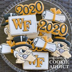 Congrats to Julia! Wake Forest, Class of 2020 Wake Forest, Class Of 2020, Cookies, Biscuits, Cookie Recipes, Cookie, Cake, Biscuit