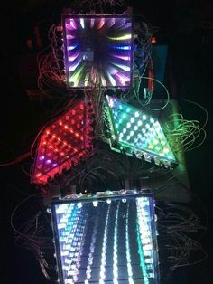 Arduino-Programmable led infinity mirror: are you tired of looking at room New Electronic Gadgets, Electronic Shop, Electronic Gifts, Led Infinity Mirror, Infinity Lights, Led Projects, Arduino Projects, Diy Electronics, Electronics Projects