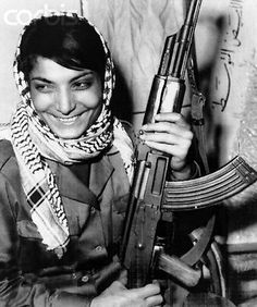 Leila Khaled, member of the Popular Front for the Liberation of Palestine (PFLP) and an airline hijacker