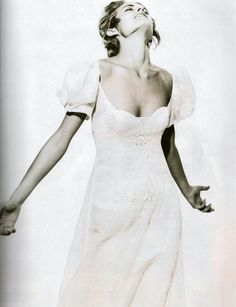 """""""Paris Couture"""": Amber Valletta by Peter Lindbergh for Harper's Bazaar US April 1994 Peter Lindbergh, The New Yorker, Dreamy Photography, Fashion Photography, Amber Valletta, Vogue Wedding, Beauty Portrait, Yes To The Dress, Iconic Women"""