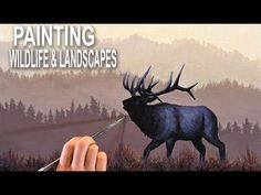 LANDSCAPE PAINTING DEMO | Elk in the mountains - YouTube