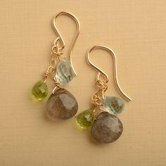 labradorite earrings labradorite jewelry blue green by izuly