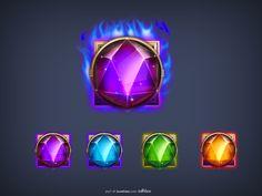 Gemstone design icon design UI_UI _UI_UI designer-Uimaker-focused UI design