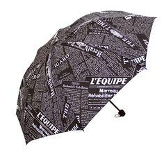 The Newspaper Pattern Umbrella 3 Fold Large Men Umbrella Personality Women Rain Umbrellas High Quality #Affiliate