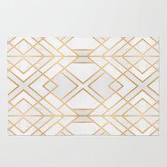 Golden Geo Rug