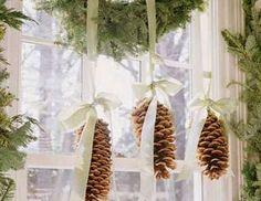 9. Hanging Pinecone Decorations
