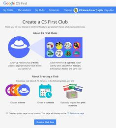 Crea y aprende con Laura: CS First, un programa gratuito de Google para fome... Google Cs, Sign Out, Get Started, Need To Know, How To Get, Activities, Blog, Create, Single Wide