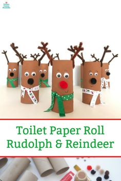 Silly Toilet Paper Roll Reindeer Craft for Kids to Make Gary&FabricCrafts. This wonderful image collections about Silly Toilet Paper Roll Reindeer Craft Christmas Crafts For Kids To Make, Christmas Paper Crafts, Preschool Christmas, Craft Projects For Kids, Christmas Activities, Christmas Fun, Holiday Crafts, Craft Kids, Paper Craft For Kids